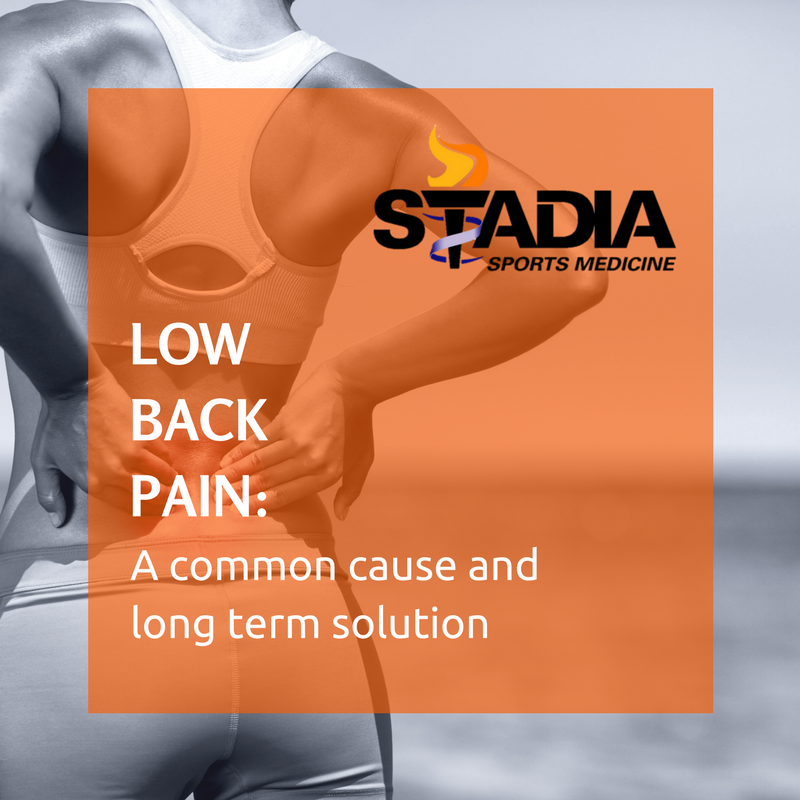 Low Back Pain A Common Cause And Long Term Solution Stadia Sports Medicine